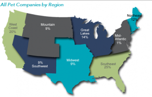 Pet Companies by Region