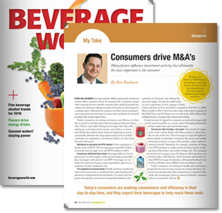 Beverage World: Consumers Drive M&A