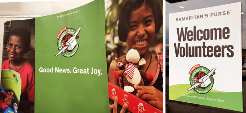 SDR Volunteer Day: Operation Christmas Child - Signs