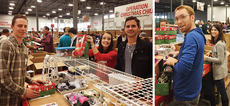 SDR Volunteer Day: Operation Christmas Child - Working