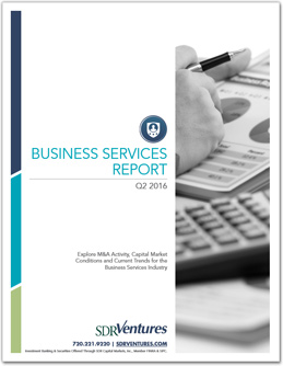 Q2 2016 Business Services M&A Report