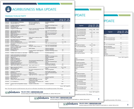 Agribusiness M&A Update