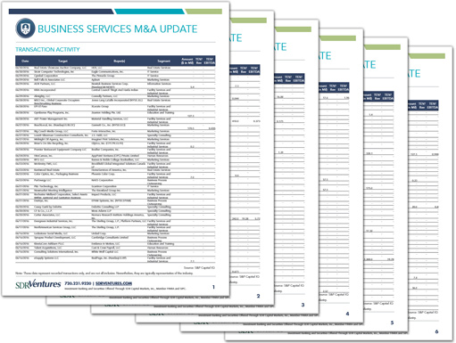 Business Services M&A Update