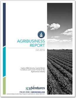 Agribusiness M&A Report - Q3 2016