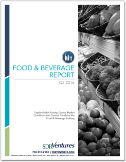 Food and Beverage M&A Report - Q3 2016