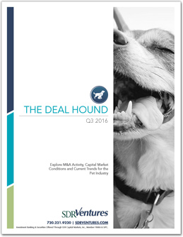 The Deal Hound Pet M&A Report - Q3 2016