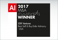 2017 M&A Awards Winner - SDR Ventures