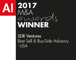 2017 M&A Awards Winner - Acquisition International - SDR Ventures